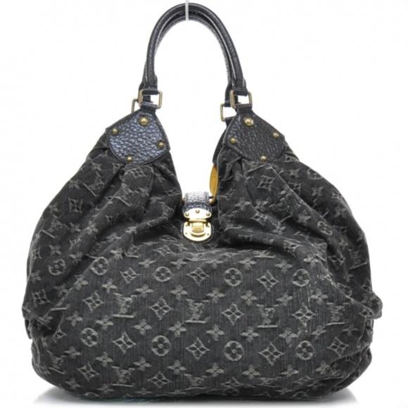 95b43aafb728 Louis Vuitton Handbags - Louis Vuitton Denim Mahina XL Black